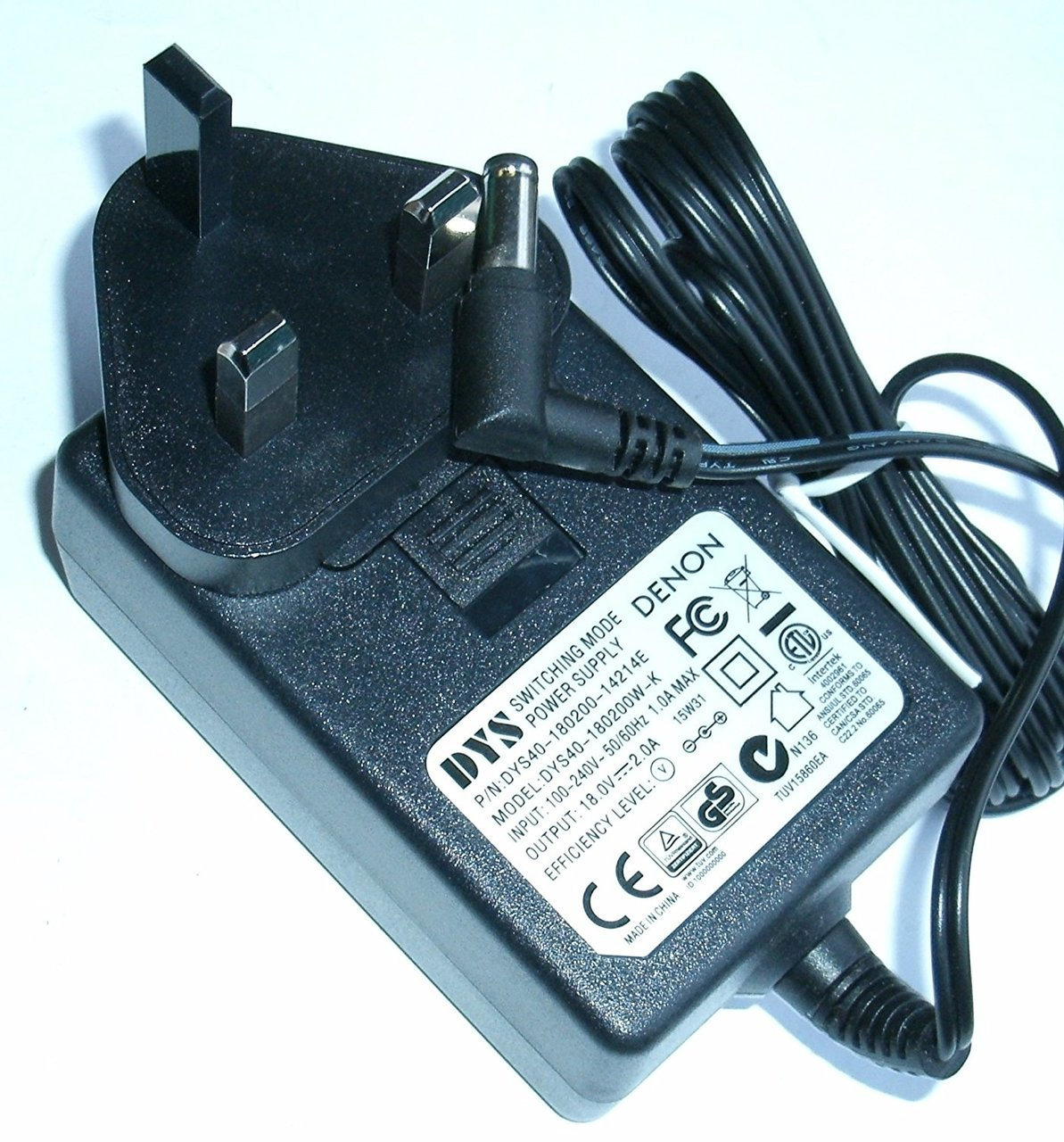 AC Adapter For Klipsch Model DYS40-180200-15A27F Charger DYS40-180200W-1 P//N